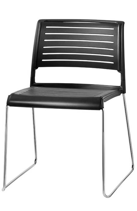 Skid base chair aline s stackable chair meeting chair for Design stuhl range