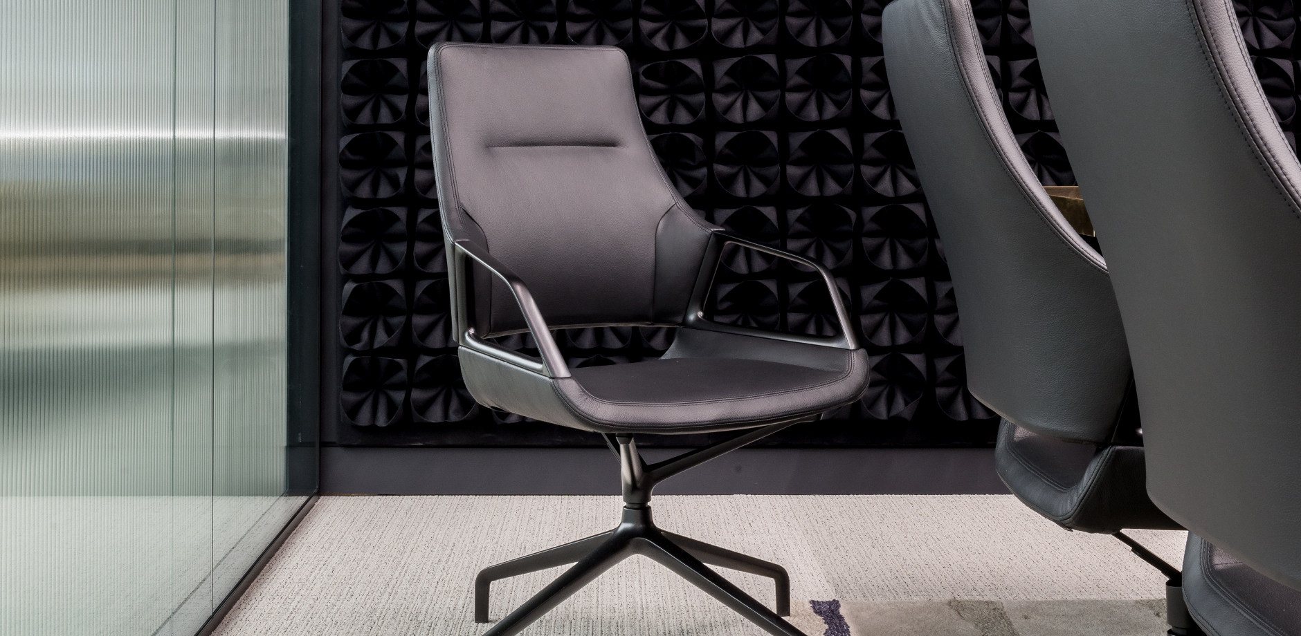 Graph medium back conference chair in special RAL colour frame and black