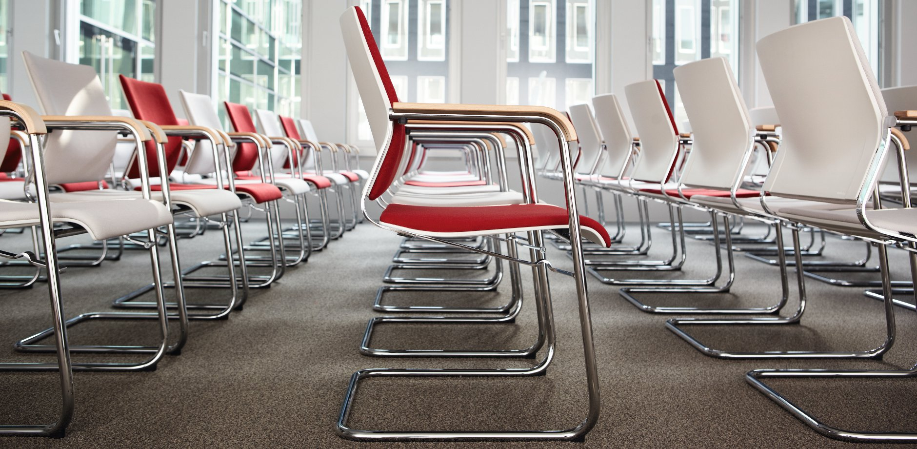 Landessparkasse Oldenburg, Sito cantilever chair by Wilkhahn