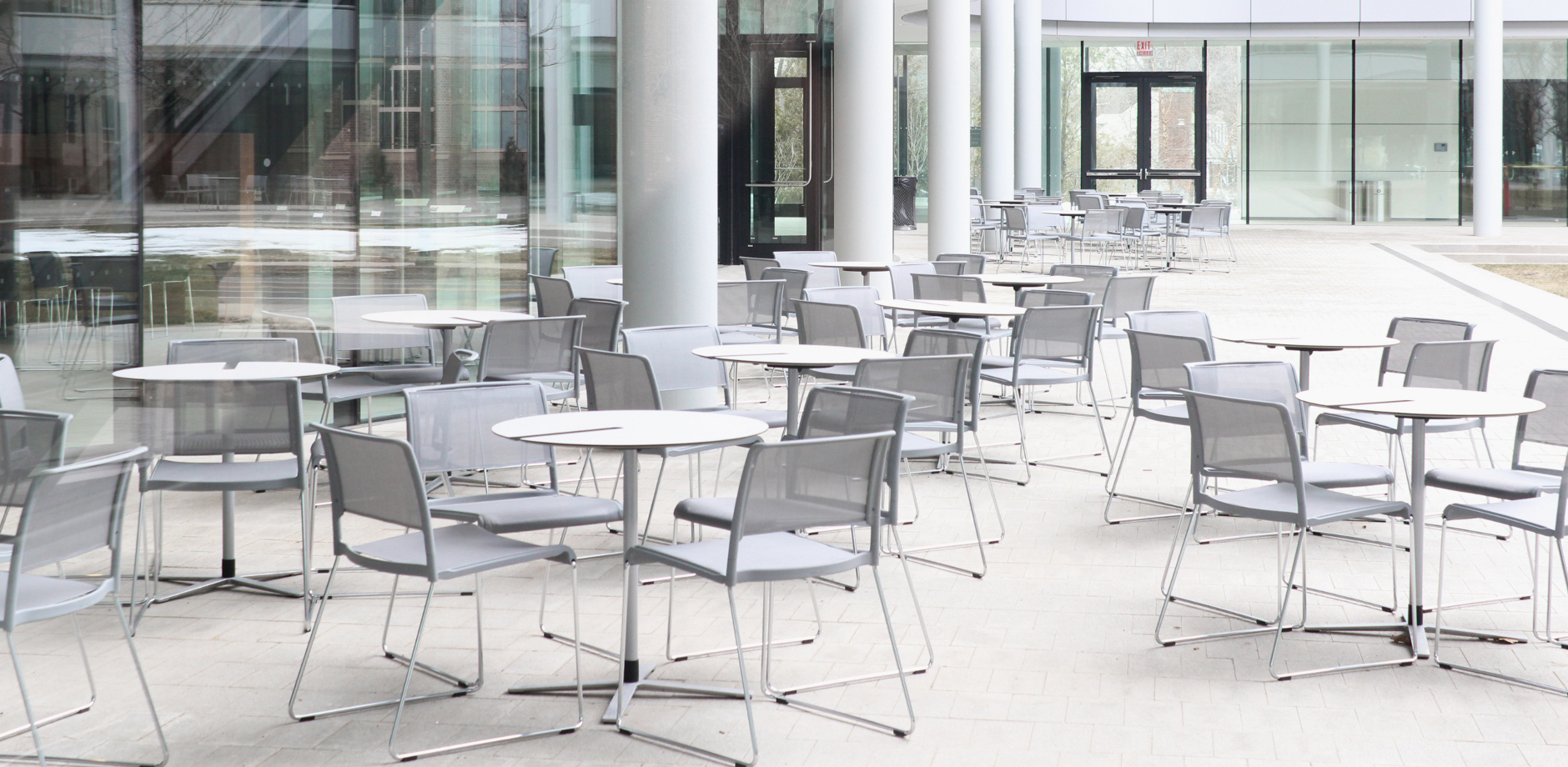 Yale SoM, US, Aline multi-purpose chair and table by Wilkhahn
