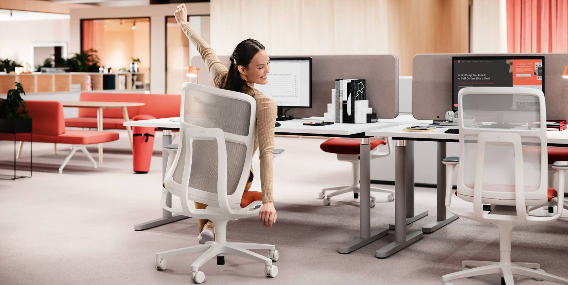 Ergonomic Task Chair At Mesh Office Chair With Net Backrest