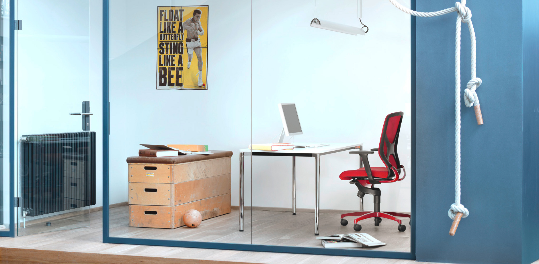 IN 3D office chair - red task chair - contract furniture