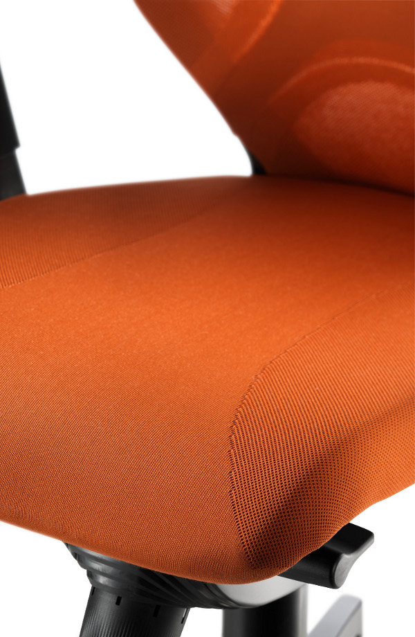 Seat with a Formstrick (form-fit knit) cover.